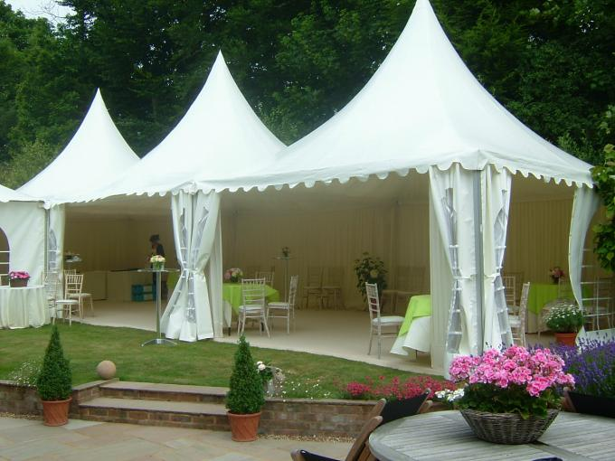 Wedding Pagoda Party Tent Aluminum Frame UV Resistant 3 X 3m Expandable Screw