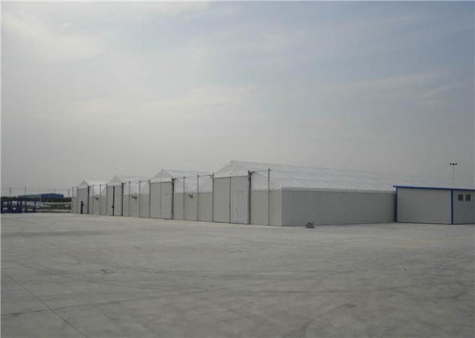 Relocatable Industrial Canopy Tent , Large Storage Tents Aluminum Frame