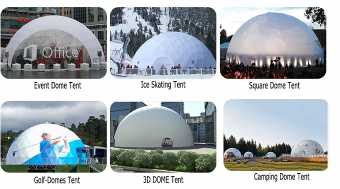 Size Customized Geodesic Dome Tent Transparent Glamping PVC Fabric Coverings
