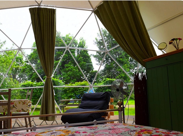 Expo Geodesic Dome Tent Outdoor 20m Advertising Aluminum Frame Glass Door