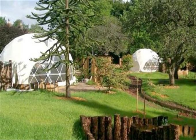 Stoving Varnish Large Dome Tent , Multi Color Metal Geodesic Dome Cold Galvanized Steel