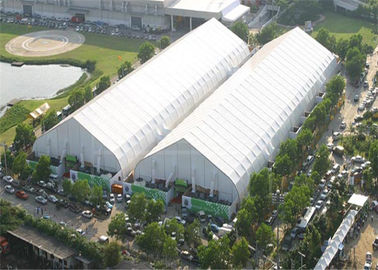 China Giant Curved Clear Sports Tent Football Field Playground TFS 120km / H Wind Resistance supplier