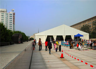 China Transparent Wedding Outside Party Tents Hot Dip Galvanized Steel Structure 20 X 35m supplier