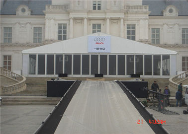 China Tear Resistant Glass Wall Tent , Clear Transparent Party Tent  20x40m supplier