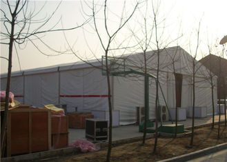 China A Shape Aluminum Party Tents Pvc Structure 15 X 45m 100km / H Wind Load supplier