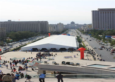 China Aluminum PVC Party Tent 30 X 80m , Rustproof Commercial Outdoor Tents supplier