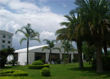 China Large Aluminium PVC Clear Span Tent  25m Width With Liners And Flooring supplier