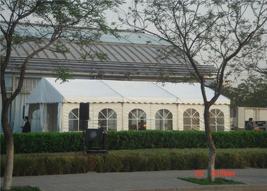 China Interchangeable Large Party Tents , Clear Wedding Tent  500 People Extra Eave / Ridge Braces supplier