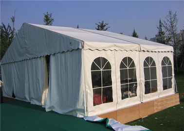 China Luxury Outdoor Small Wedding Tent  6 * 12m Anti - Aging Galvanized Steel Insert supplier