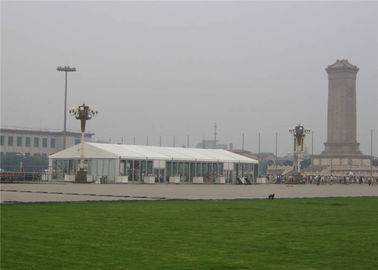 China Transparent Outdoor Party Tents , 10x30 Party Tent Double Wing / Single Wing Glass Door supplier