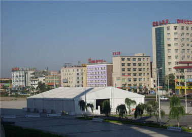 China Big Celebration Sturdy Party Tents , PVC Wedding Tent 3m / 5m Bay Distance supplier