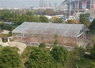 China 20m * 40m Transparent Pvc Tent , Large Marquee Wedding Tent  ABS / Glass Wall supplier