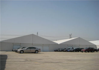 China Huge Temporary Industrial Warehouse Tent 10 X 30m 100% Waterproof 100km / Hour supplier