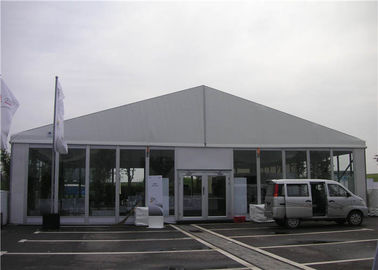 China PVC Roof Clear Span Tent 600 People Glass Wall Size Customized For Annual Banguet supplier