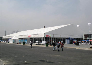China Electrical Appliance Exhibition Stand Tent 40m Huge Clear Span 80 - 120km / H Windproof supplier