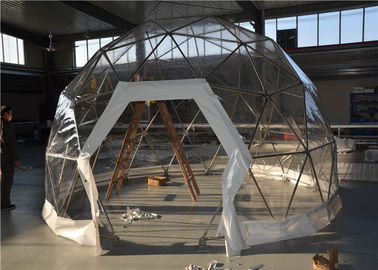 China Size Customized Geodesic Dome Tent Transparent Glamping PVC Fabric Coverings supplier
