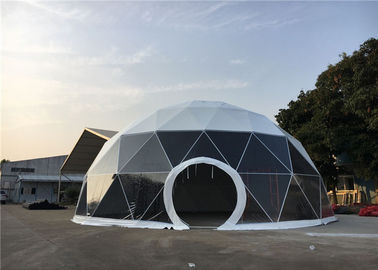 China Heavy Duty Geodesic Dome Tent 24m Diameter For Garden Shelters / Park Ornaments supplier