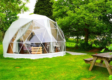 China Stoving Varnish Large Dome Tent , Multi Color Metal Geodesic Dome Cold Galvanized Steel supplier