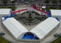 China 12m Auto Outdoor Exhibition Tents , Large Clear Span Tent Hard Pressed Waterproof factory