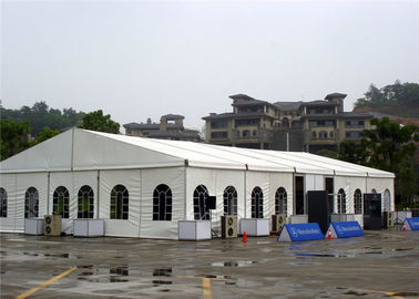 Clear Plastic  Wedding Party Tent  White Marquee 15 X 20m PVC - Coated Polyester Textile