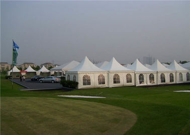 PVC White Pagoda Canopy Tent , Outdoor Promotional Tents 3m X 3m Square Tube