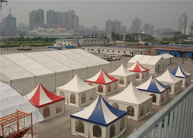 Aluminum Marquee Pagoda Party Tent  For Advertising 5m X 5m White Double PVC Coated